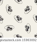 sushi doodle seamless pattern background 15963092