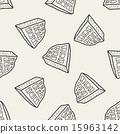waffle doodle seamless pattern background 15963142