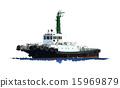 拖船 船 划船 15969879