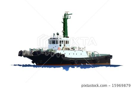 Tug boat (green black) 15969879