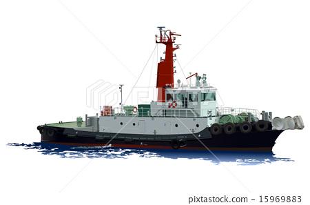 拖船 船 划船 15969883