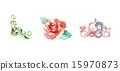 白底 心 玫瑰 15970873