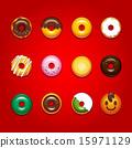 甜甜圈插圖集 15971129