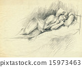 an hand drawn illustration - relaxation 15973463