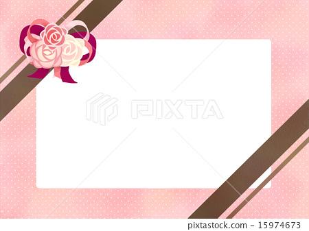 장미와 리본 프레임 15974673
