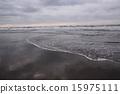 beach, kujukuri, wave 15975111