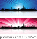 San Francisco Skyline with colorful Sky 15976525
