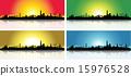 Colorful San Francisco Skyline Set 15976528