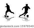 Soccer Silhouette 15976540