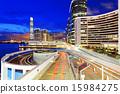 traffic in modern city at night 15984275