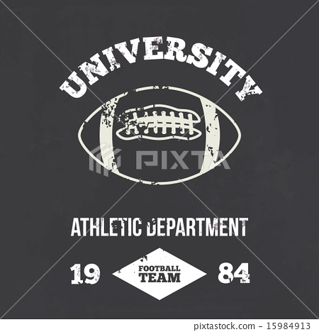 University football athletic dept. - Vintage print 15984913