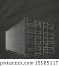 container on chalk board 15985117