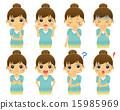 女性的面部表情集合 15985969