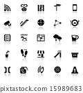 Pathway related icons with reflect on white 15989683