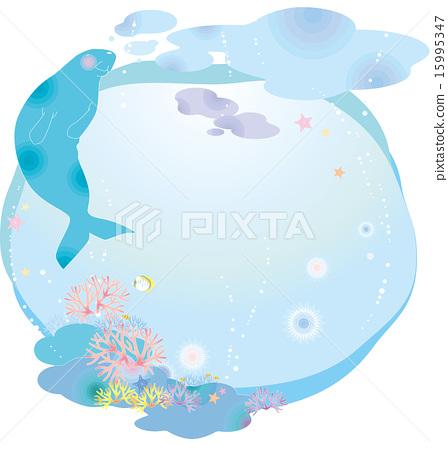 dugong, ocean, sea 15995347