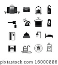 Hotel sign icons vector 16000886
