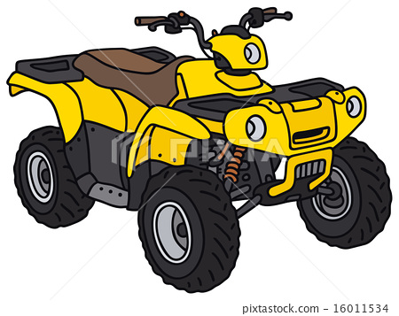 Yellow all terrain vehicle  16011534