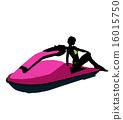 jetskier, silhouette, female 16015750