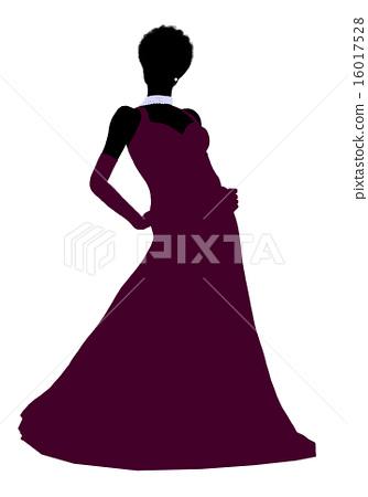 African American Cinderella Silhouette Illustration 16017528