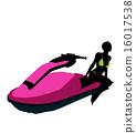 jetskier silhouette female 16017538