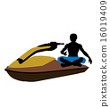 Male Jetskier Art Illustration Silhouette 16019409