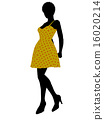 Fashionable African American Female Illustration Silhouette 16020214