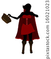 Little Red Riding Hood Silhouette Illustration 16021023