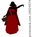 Little Red Riding Hood Silhouette Illustration 16024074