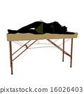 Massage Table Illustration Silhouette 16026403