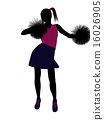 Cheerleader silhouette on a white background 16026905