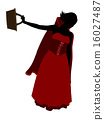 Little Red Riding Hood Silhouette Illustration 16027487