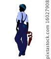 Female Mechanic Silhouette 16027908