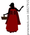 Little Red Riding Hood Silhouette Illustration 16027915