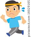 田径赛事 儿童监护人 矢量 16029165