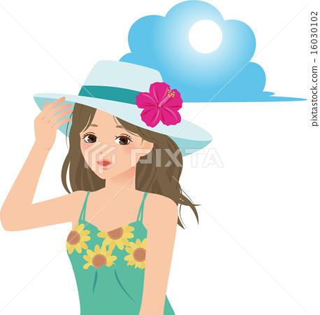 Illustration of women and summer 16030102