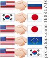 악수, 국기, 세계 16031703