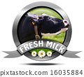 Fresh Milk - Metal Icon with Cow 16035884