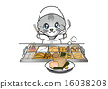Cat making oden 16038208
