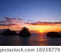 在多多加島上的日落 16038776