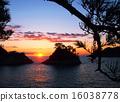 在多多加島上的日落 16038778