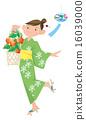 浴衣 冬櫻花 廟會 16039000