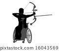 handicapped, paralympics, vector 16043569