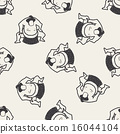 sumo doodle seamless pattern background 16044104