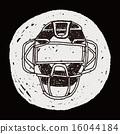 vector catcher doodle 16044184