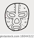 mexican wrestler mask doodle 16044322