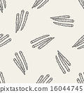 Burdock doodle seamless pattern background 16044745
