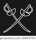 fencing doodle 16044765