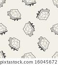 tofu doodle seamless pattern background 16045672