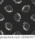 tofu doodle seamless pattern background 16046267