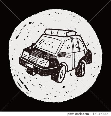 police car doodle 16046882